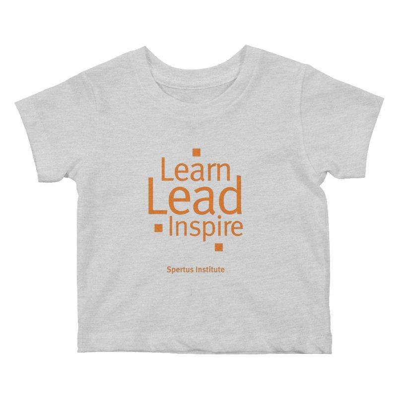Learn Lead Inspire Orange Kids Baby T-Shirt by Spertus Shop