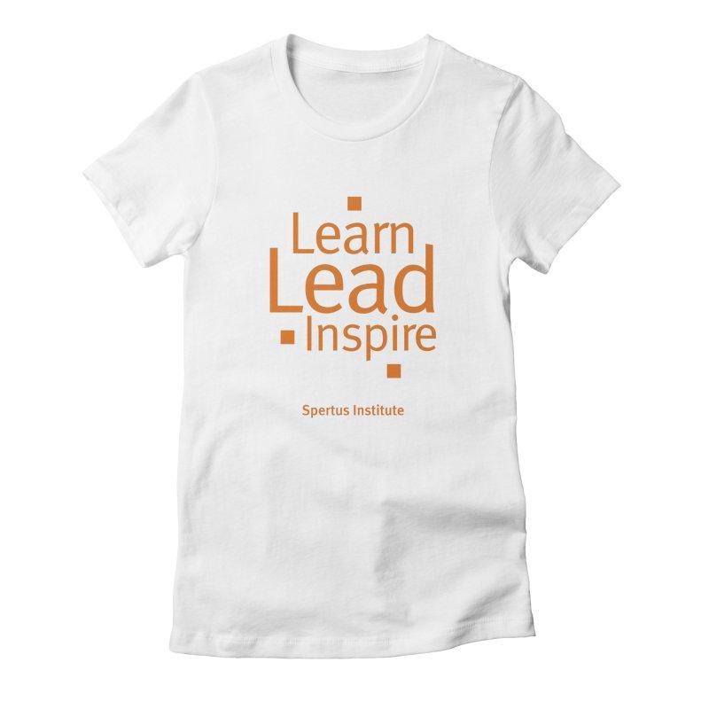 Learn Lead Inspire Orange Women's T-Shirt by Spertus Shop