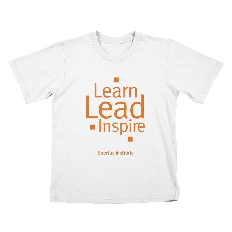 Learn Lead Inspire Orange Kids T-Shirt by Spertus Shop