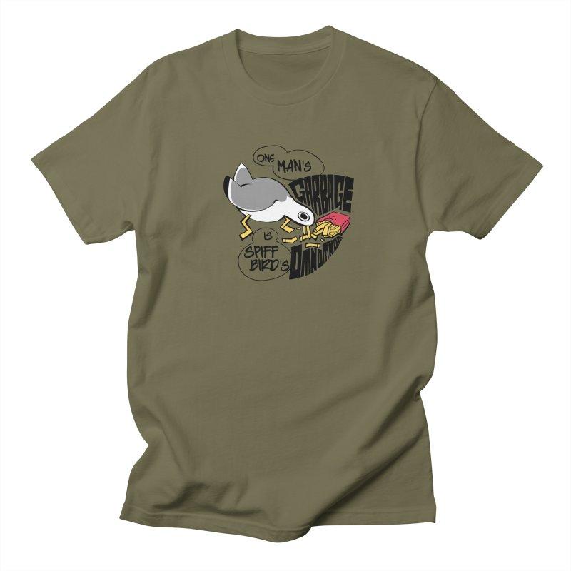 One Man's Garbage is Spiff Bird's Omnomnom Men's T-Shirt by The Spiffai Team Shop