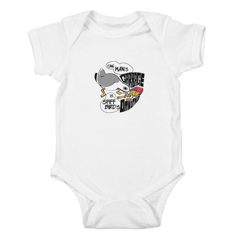 One Man's Garbage is Spiff Bird's Omnomnom Kids Baby Bodysuit by The Spiffai Team Shop