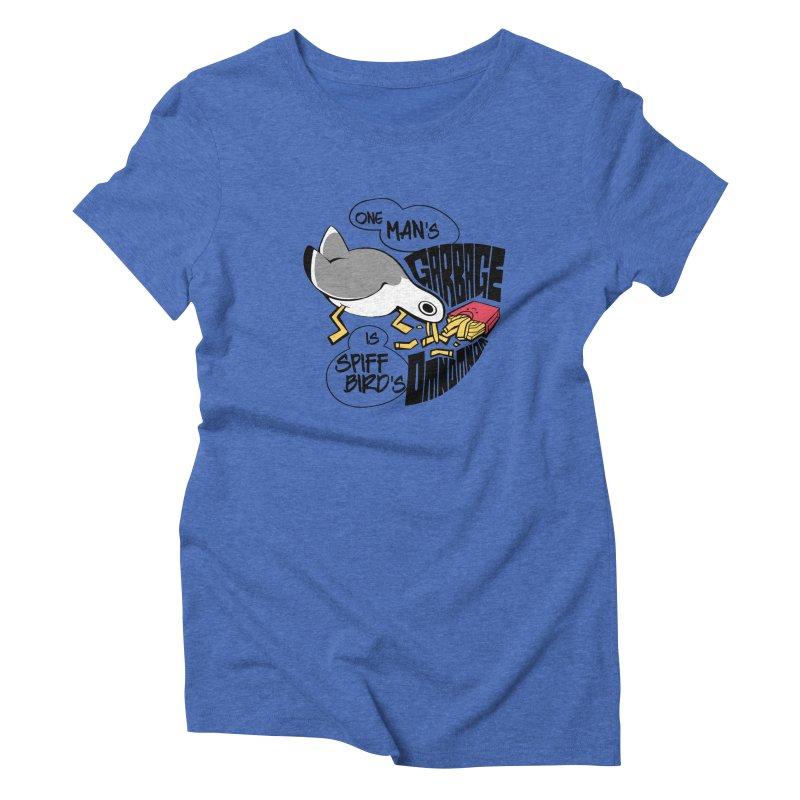 One Man's Garbage is Spiff Bird's Omnomnom Women's Triblend T-Shirt by The Spiffai Team Shop