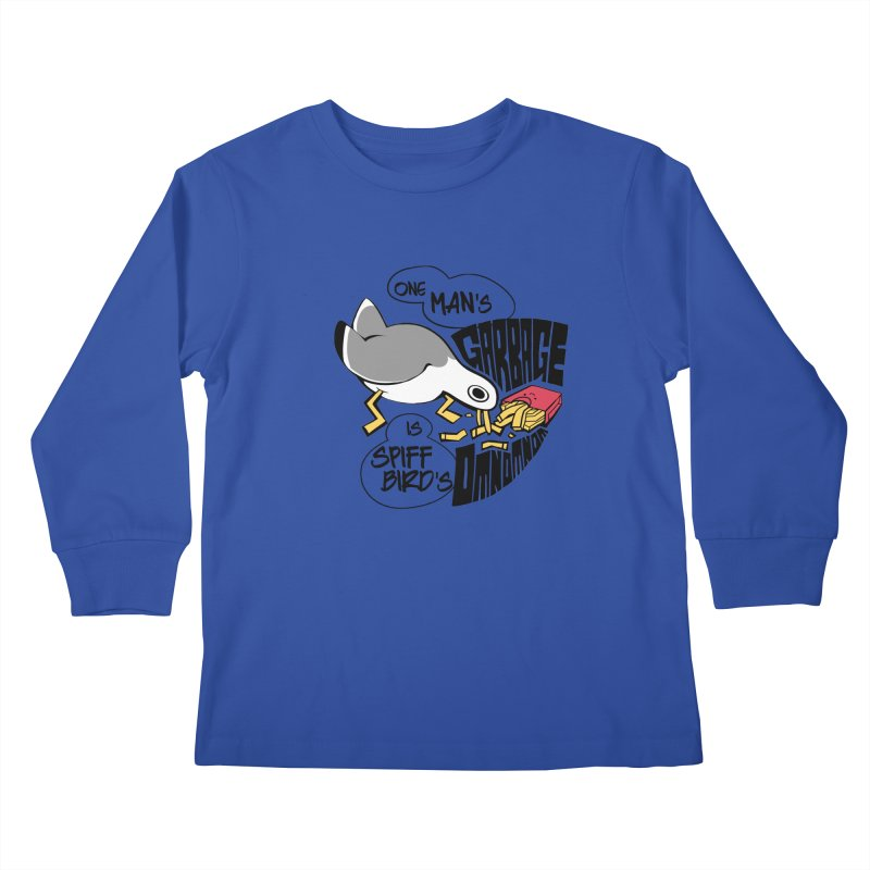 One Man's Garbage is Spiff Bird's Omnomnom Kids Longsleeve T-Shirt by The Spiffai Team Shop