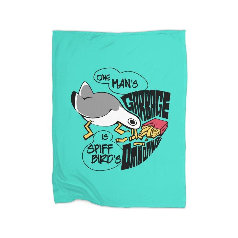 One Man's Garbage is Spiff Bird's Omnomnom Home Blanket by The Spiffai Team Shop