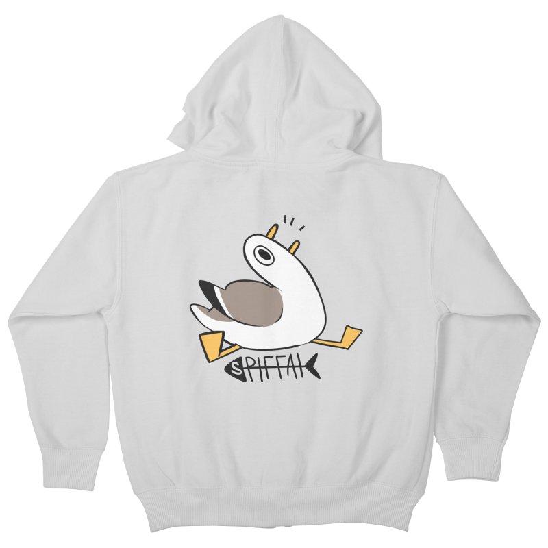 Spiffai Logo Kids Zip-Up Hoody by The Spiffai Team Shop