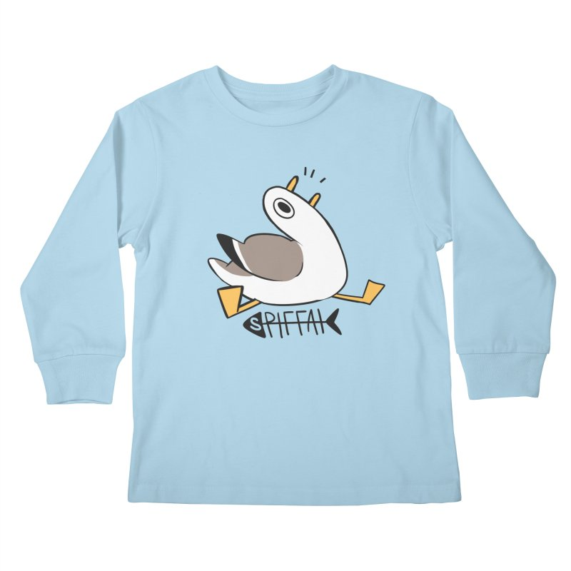 Spiffai Logo Kids Longsleeve T-Shirt by The Spiffai Team Shop