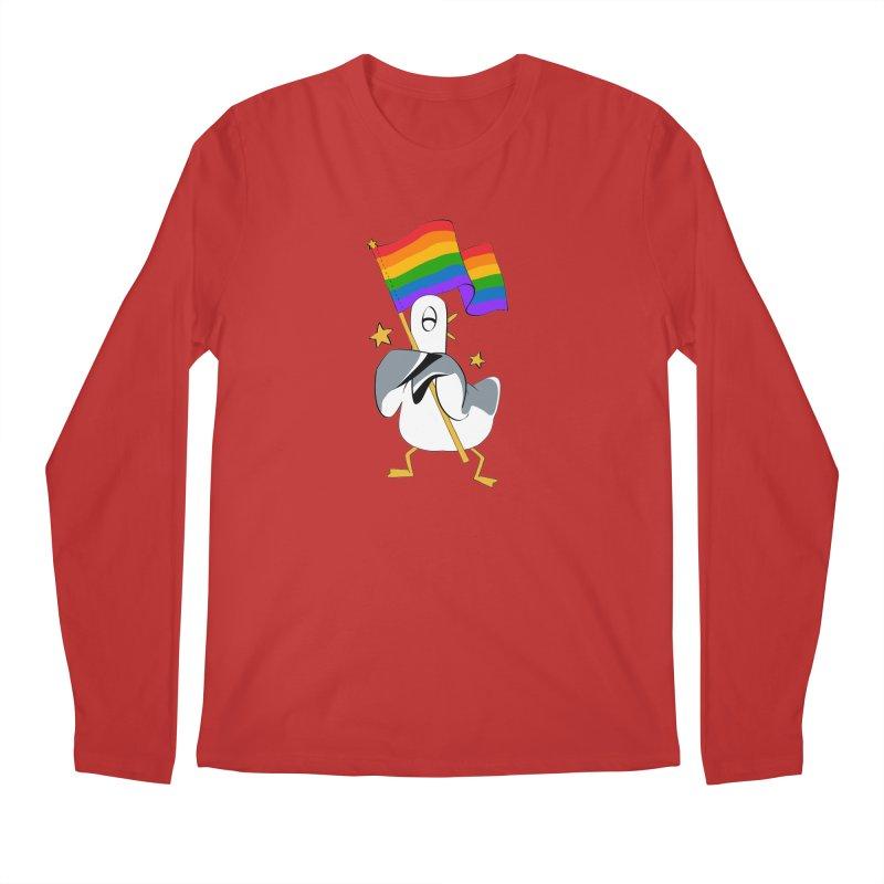 Spiff Bird Has Pride Men's Longsleeve T-Shirt by The Spiffai Team Shop