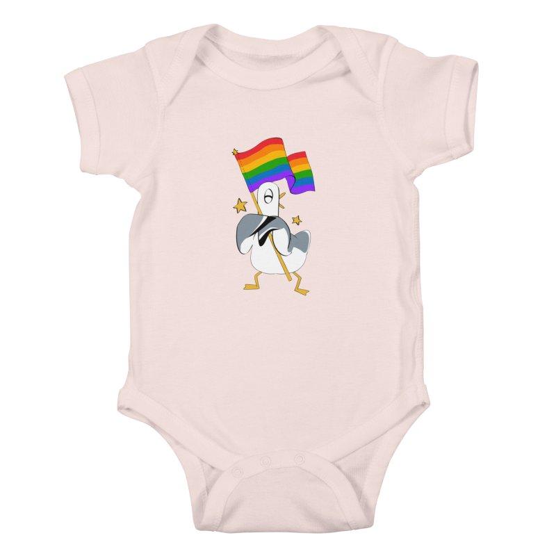 Spiff Bird Has Pride Kids Baby Bodysuit by The Spiffai Team Shop