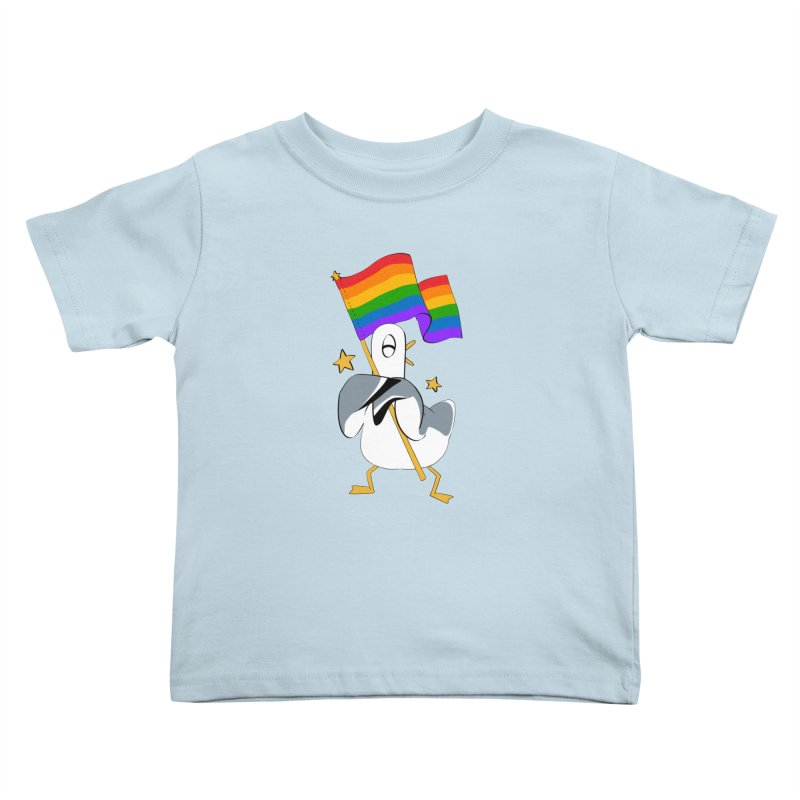 Spiff Bird Has Pride Kids Toddler T-Shirt by The Spiffai Team Shop