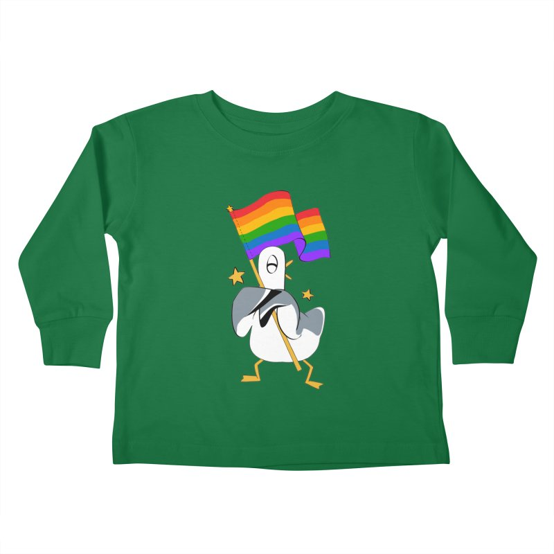 Spiff Bird Has Pride Kids Toddler Longsleeve T-Shirt by The Spiffai Team Shop