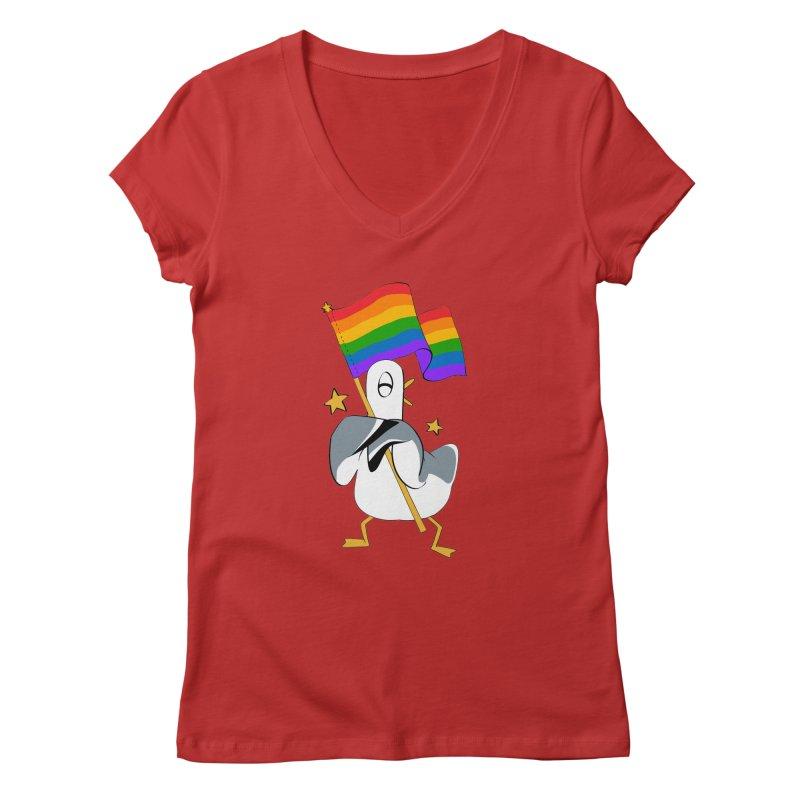 Spiff Bird Has Pride Women's V-Neck by The Spiffai Team Shop