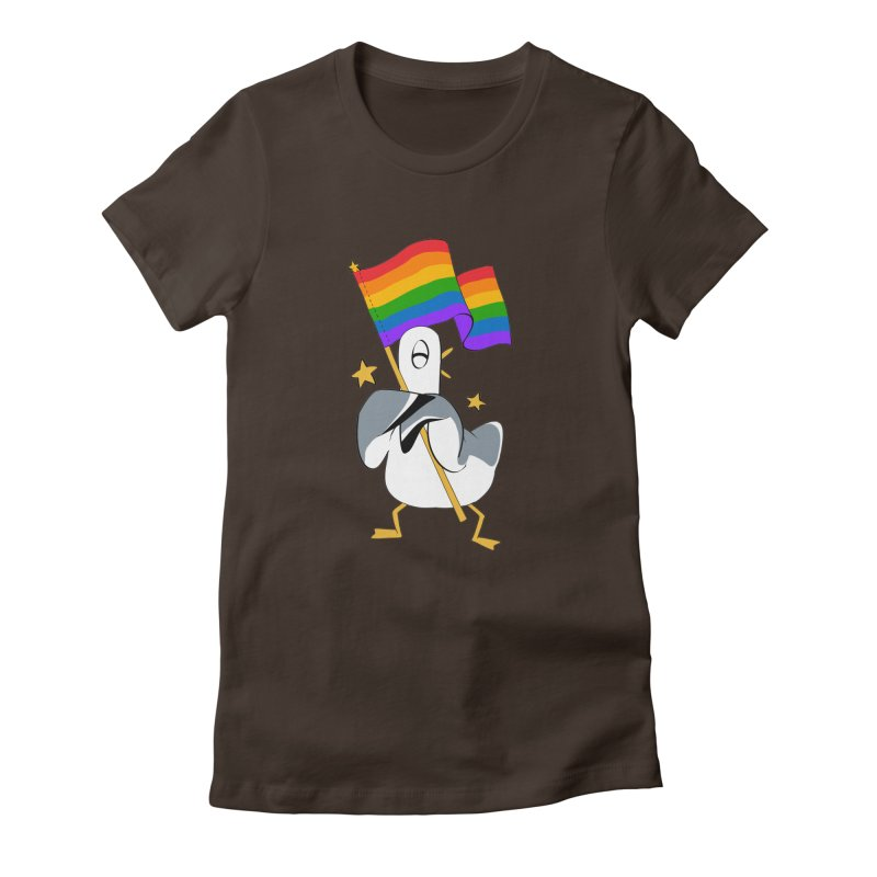 Spiff Bird Has Pride Women's Fitted T-Shirt by The Spiffai Team Shop