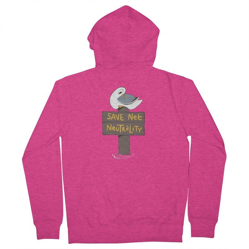 Save Net Neutralilty Spiff Bird Women's Zip-Up Hoody by The Spiffai Team Shop