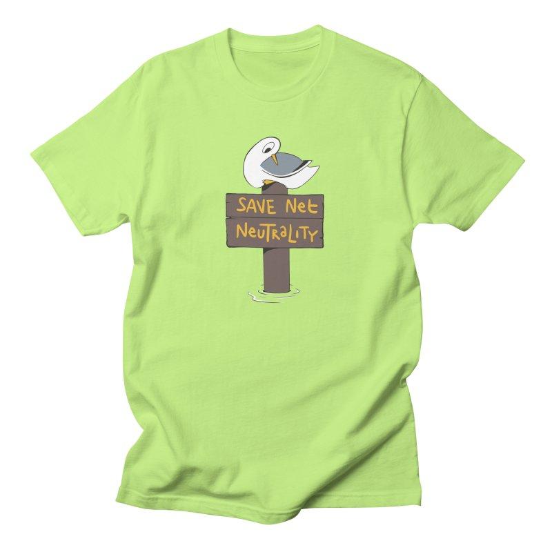 Save Net Neutralilty Spiff Bird Women's Unisex T-Shirt by The Spiffai Team Shop