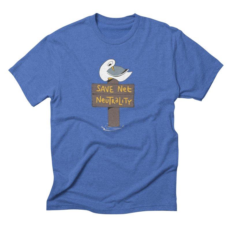 Save Net Neutralilty Spiff Bird Men's Triblend T-Shirt by The Spiffai Team Shop
