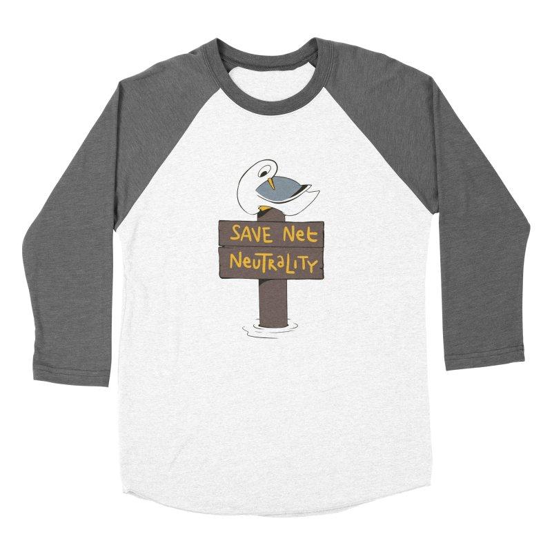 Save Net Neutralilty Spiff Bird Women's Baseball Triblend T-Shirt by The Spiffai Team Shop