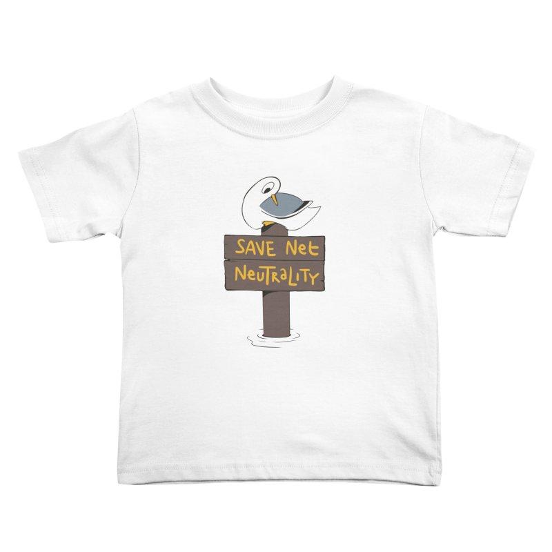 Save Net Neutralilty Spiff Bird Kids Toddler T-Shirt by The Spiffai Team Shop