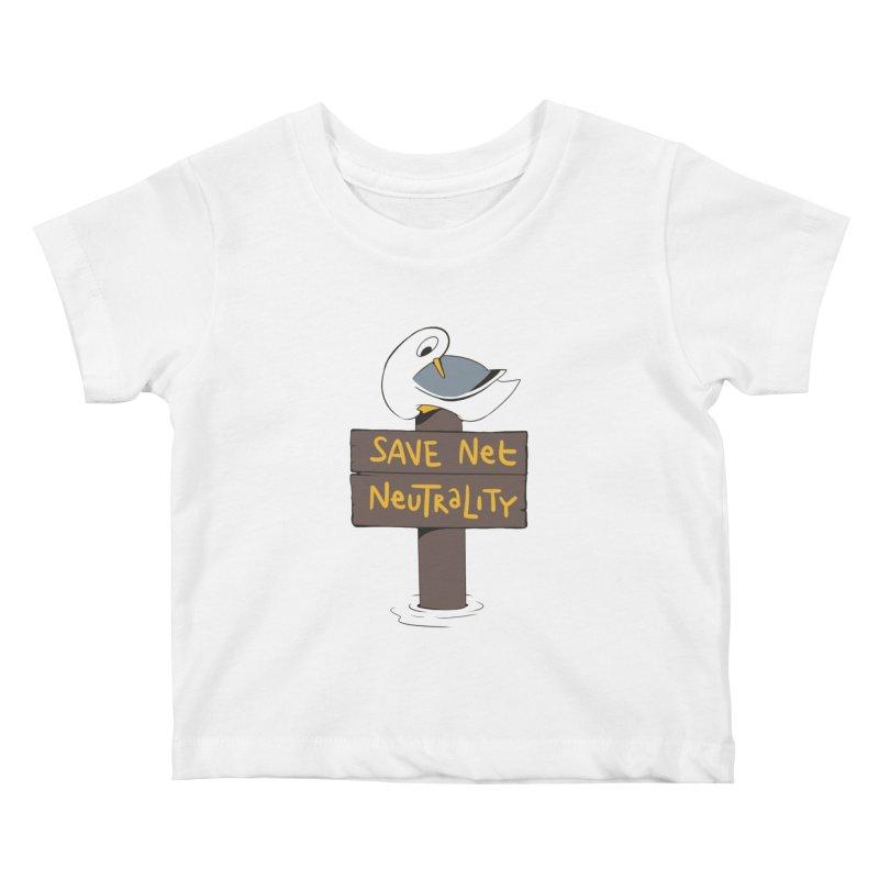 Save Net Neutralilty Spiff Bird Kids Baby T-Shirt by The Spiffai Team Shop