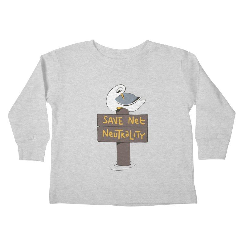 Save Net Neutralilty Spiff Bird Kids Toddler Longsleeve T-Shirt by The Spiffai Team Shop