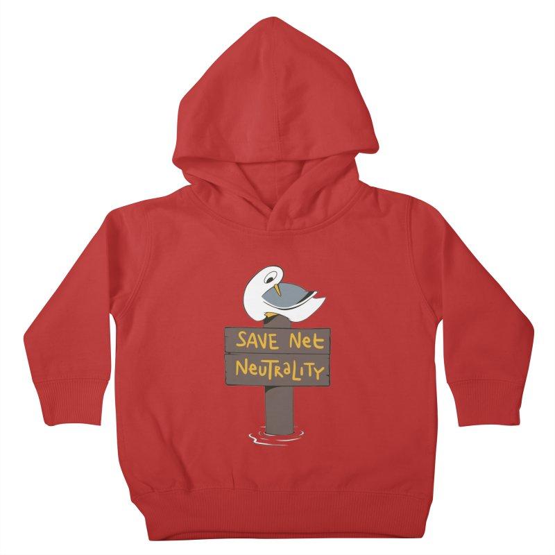 Save Net Neutralilty Spiff Bird Kids Toddler Pullover Hoody by The Spiffai Team Shop