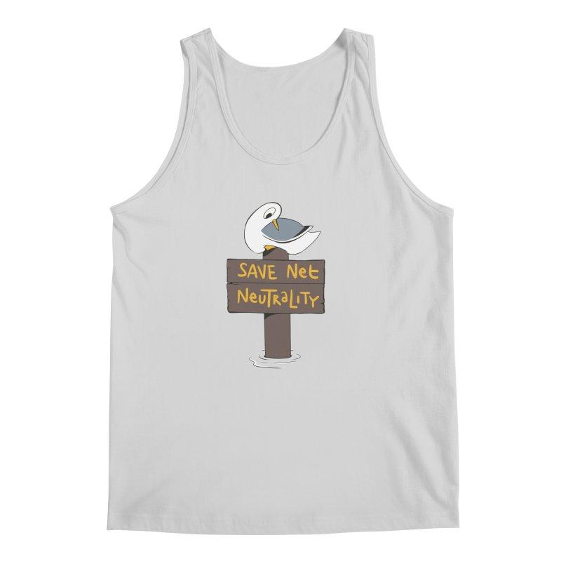 Save Net Neutralilty Spiff Bird Men's Tank by The Spiffai Team Shop
