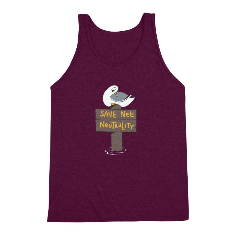 Save Net Neutralilty Spiff Bird Men's Triblend Tank by The Spiffai Team Shop