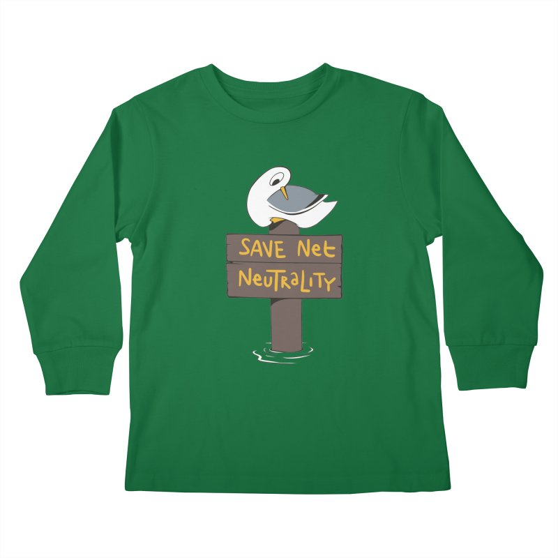 Save Net Neutralilty Spiff Bird Kids Longsleeve T-Shirt by The Spiffai Team Shop