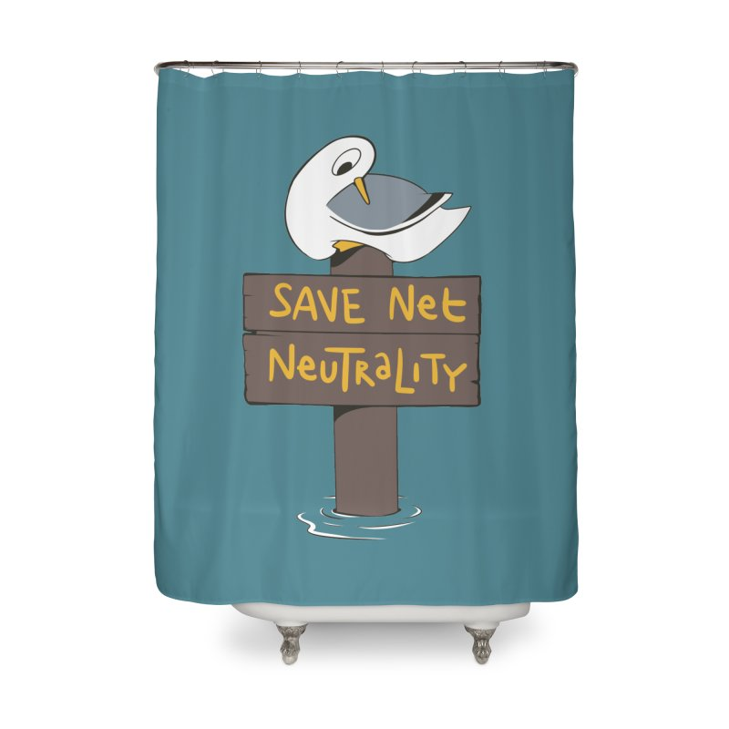 Save Net Neutralilty Spiff Bird Home Shower Curtain by The Spiffai Team Shop