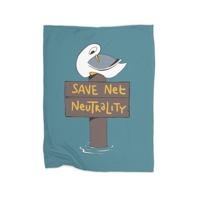 Save Net Neutralilty Spiff Bird Home Blanket by The Spiffai Team Shop