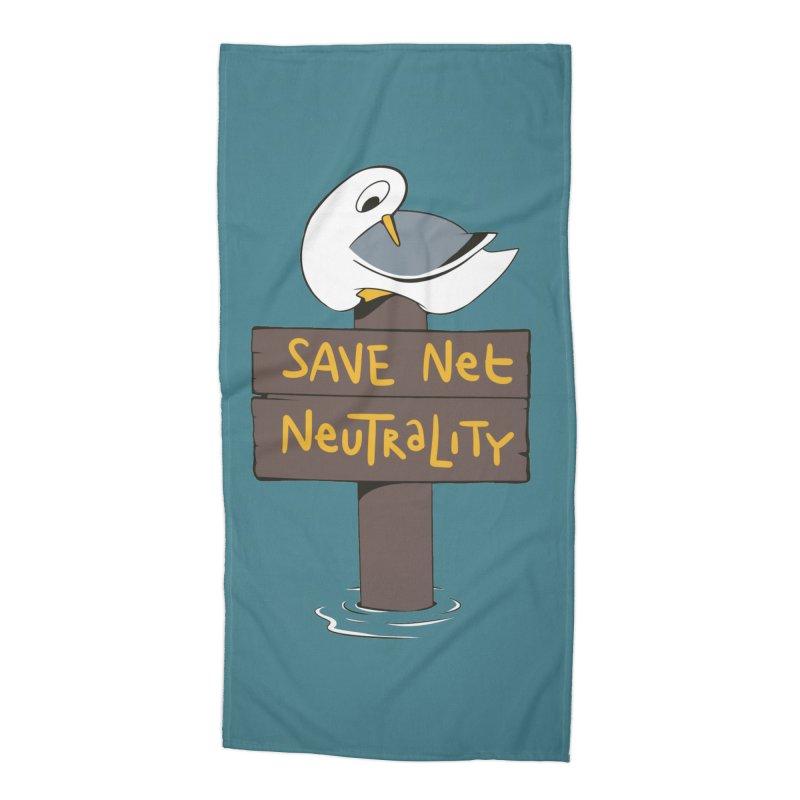 Save Net Neutralilty Spiff Bird Accessories Beach Towel by The Spiffai Team Shop