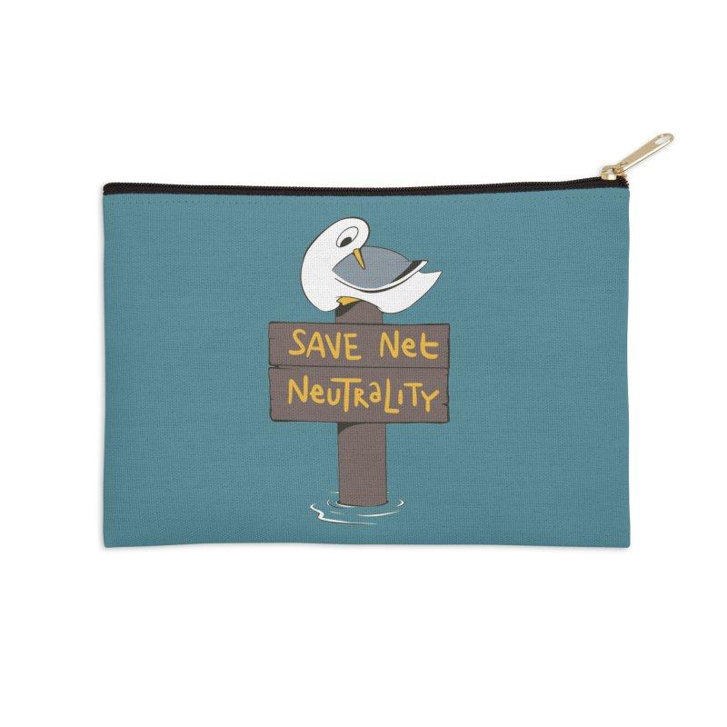 Save Net Neutralilty Spiff Bird Accessories Zip Pouch by The Spiffai Team Shop