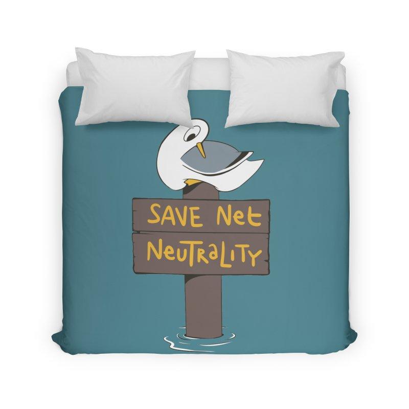 Save Net Neutralilty Spiff Bird Home Duvet by The Spiffai Team Shop