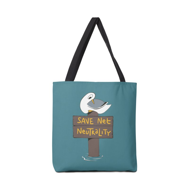 Save Net Neutralilty Spiff Bird Accessories Bag by The Spiffai Team Shop