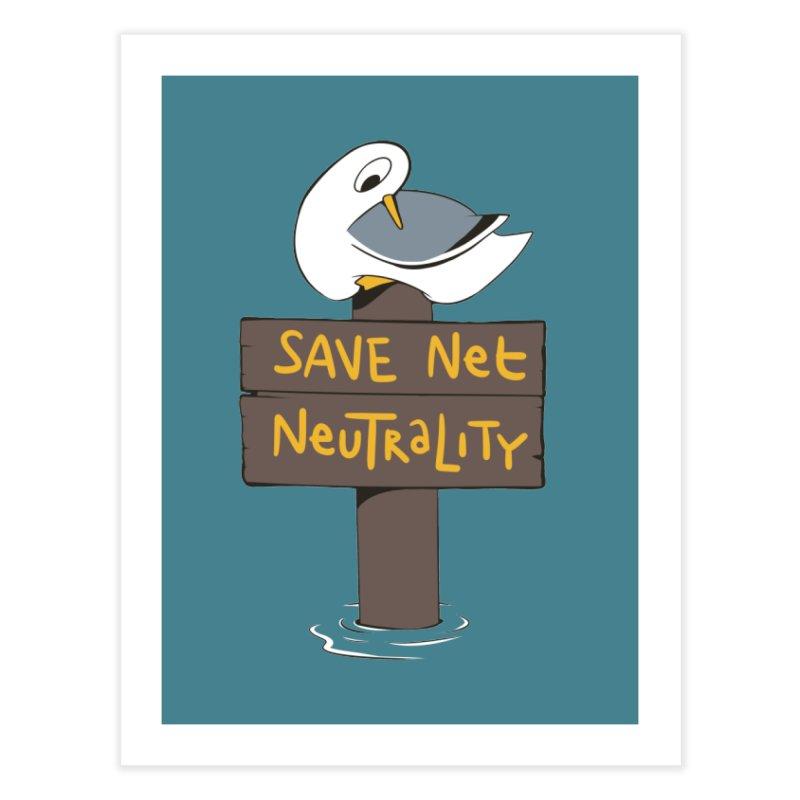 Save Net Neutralilty Spiff Bird Home Fine Art Print by The Spiffai Team Shop