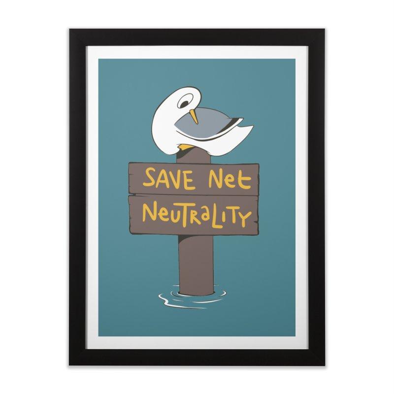 Save Net Neutralilty Spiff Bird Home Framed Fine Art Print by The Spiffai Team Shop
