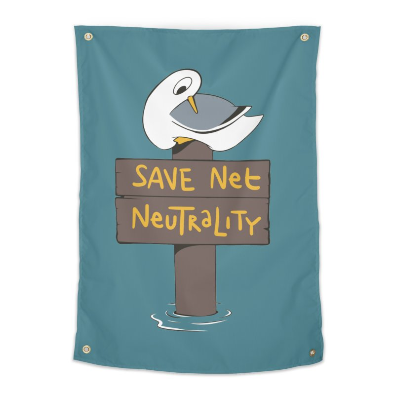 Save Net Neutralilty Spiff Bird Home Tapestry by The Spiffai Team Shop