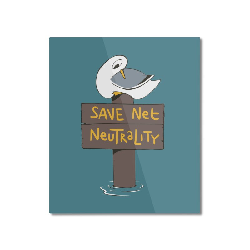 Save Net Neutralilty Spiff Bird Home Mounted Aluminum Print by The Spiffai Team Shop