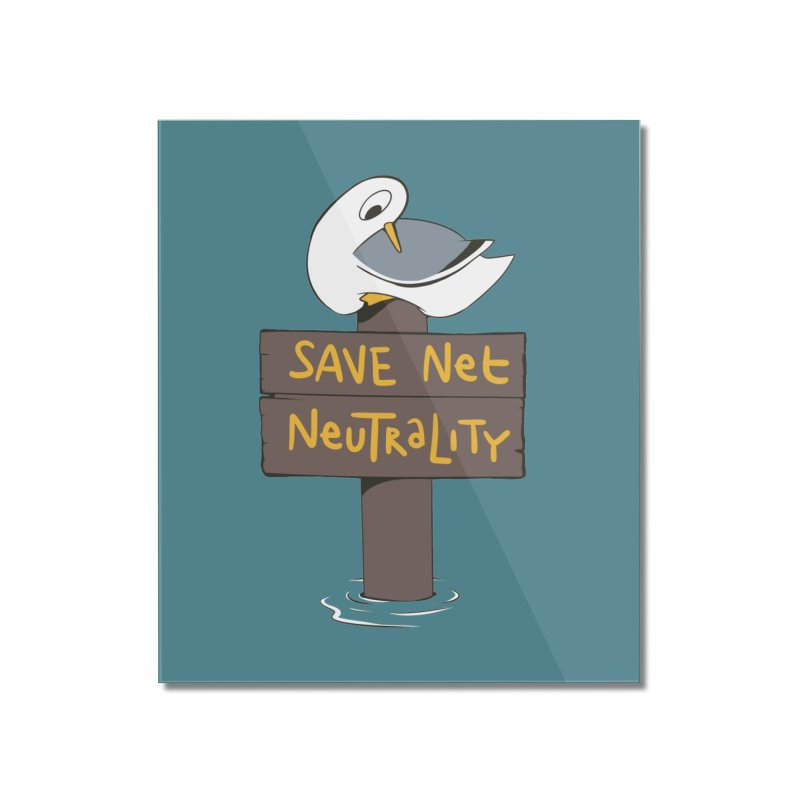 Save Net Neutralilty Spiff Bird Home Mounted Acrylic Print by The Spiffai Team Shop