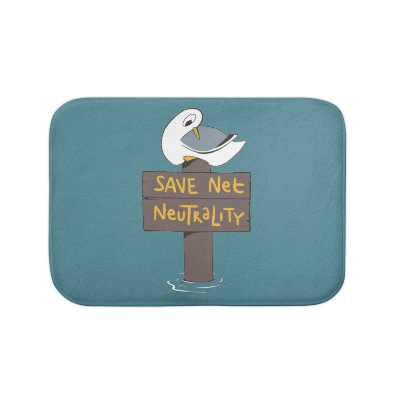 Save Net Neutralilty Spiff Bird Home Bath Mat by The Spiffai Team Shop