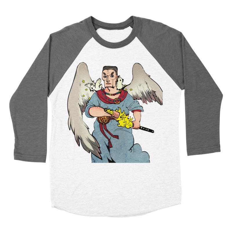 Archangel Uriel from S2V2 in Women's Baseball Triblend Longsleeve T-Shirt Tri-Grey Sleeves by The Spiffai Shop