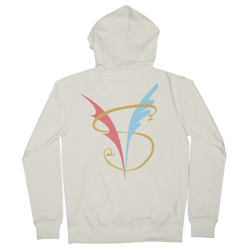 S2V2 Logo in Men's French Terry Zip-Up Hoody Heather Oatmeal by The Spiffai Shop