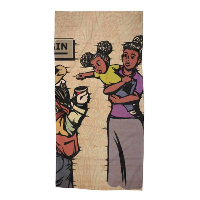 Donating to Charity Card Art Accessories Beach Towel by The Spiffai Shop
