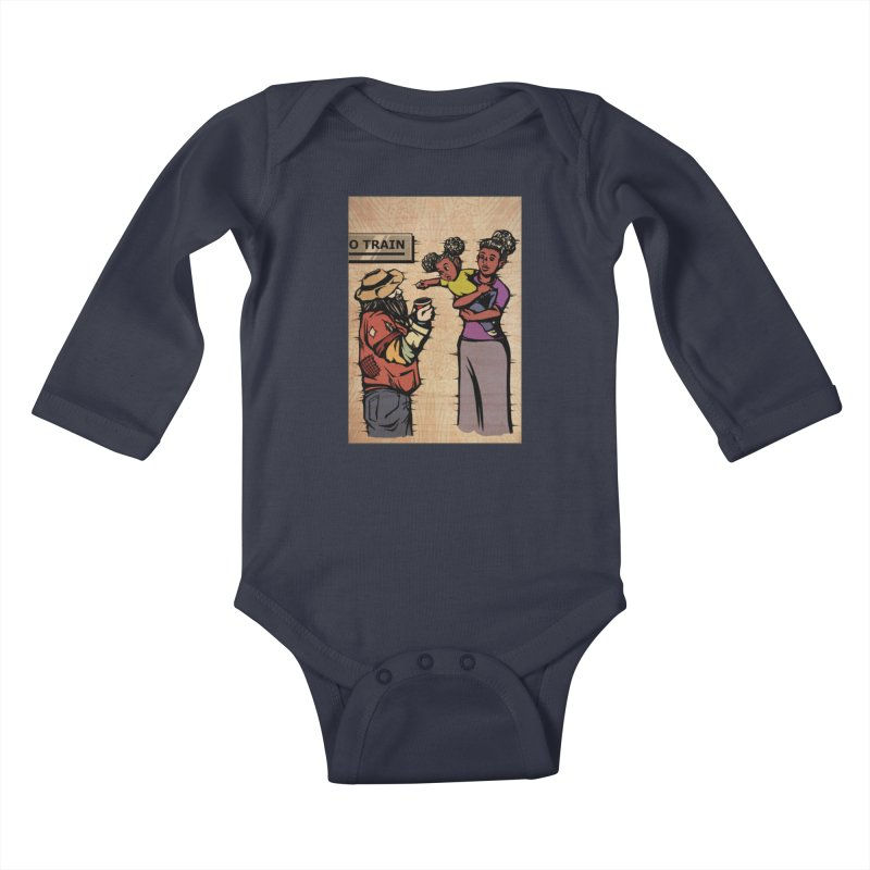 Donating to Charity Card Art Kids Baby Longsleeve Bodysuit by The Spiffai Shop