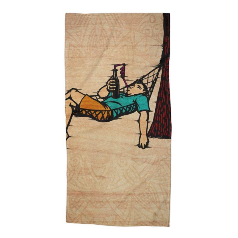 Do Nothing Card Art Accessories Beach Towel by The Spiffai Shop