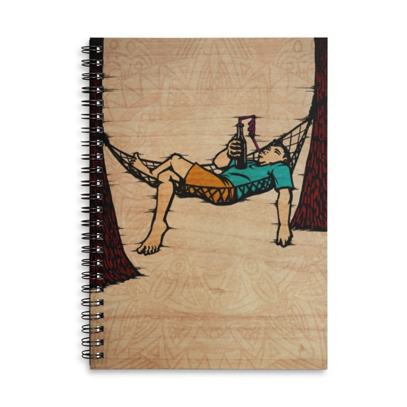 Do Nothing Card Art in Lined Spiral Notebook by The Spiffai Shop