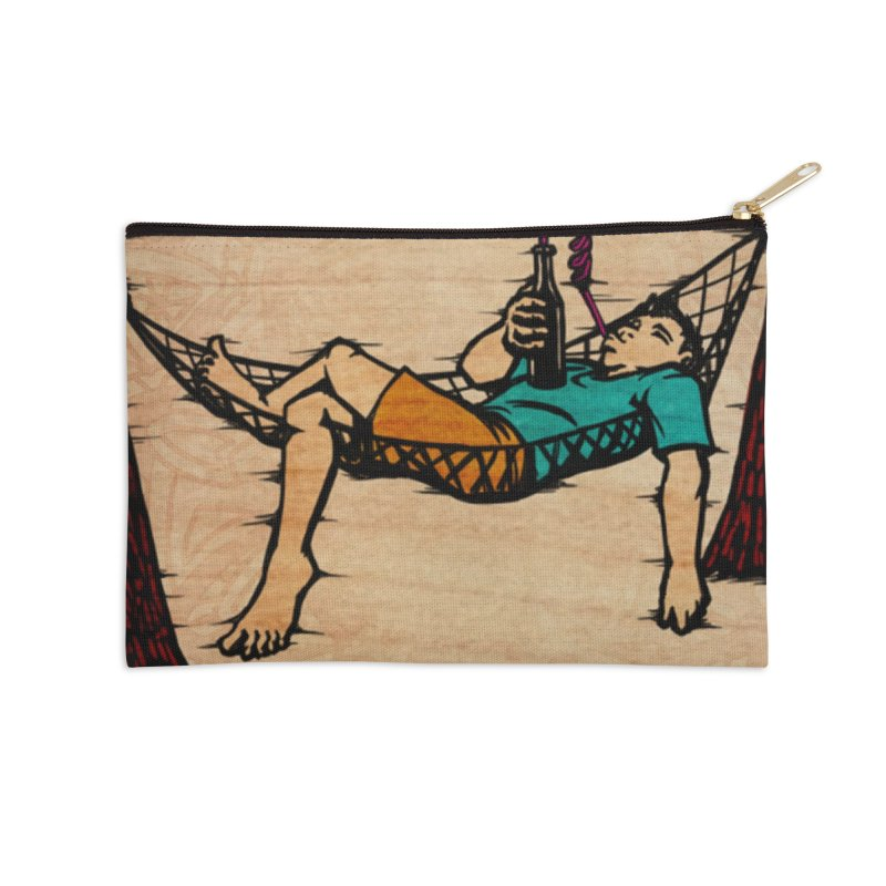 Do Nothing Card Art Accessories Zip Pouch by The Spiffai Shop