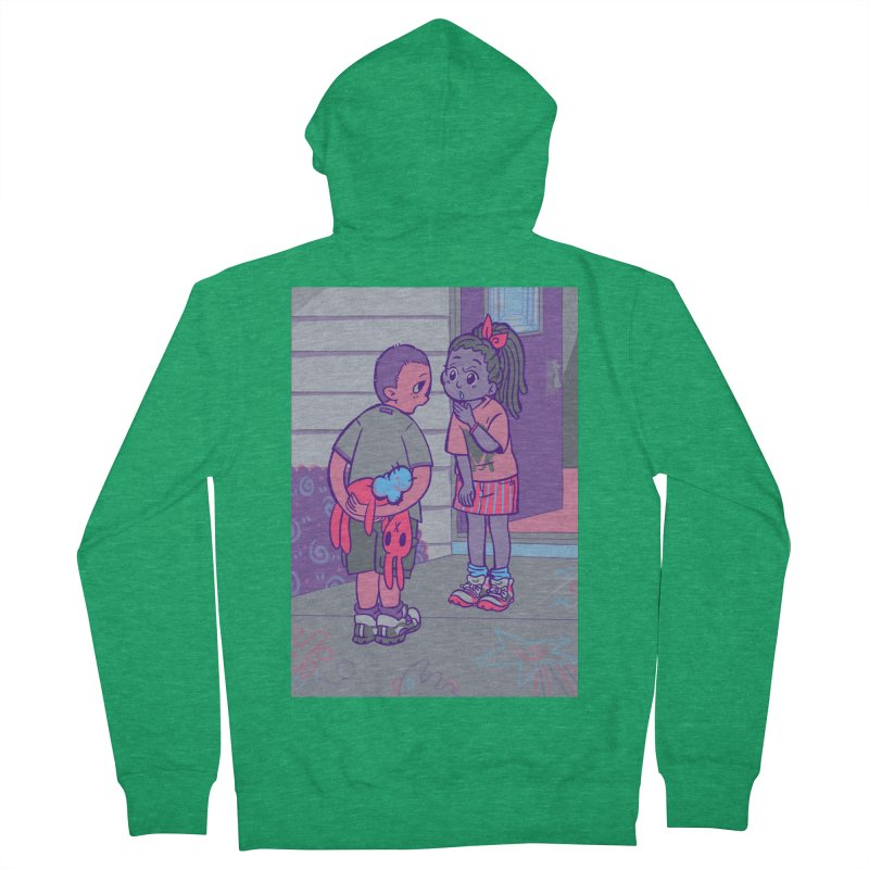 Honesty Card Art Women's French Terry Zip-Up Hoody by The Spiffai Shop
