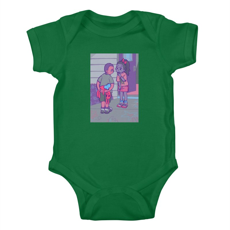 Honesty Card Art Kids Baby Bodysuit by The Spiffai Shop