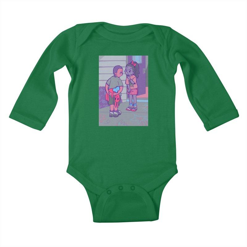 Honesty Card Art Kids Baby Longsleeve Bodysuit by The Spiffai Shop
