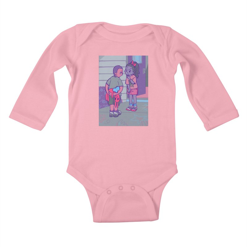 Honesty Card Art Kids Baby Longsleeve Bodysuit by The Spiffai Shop